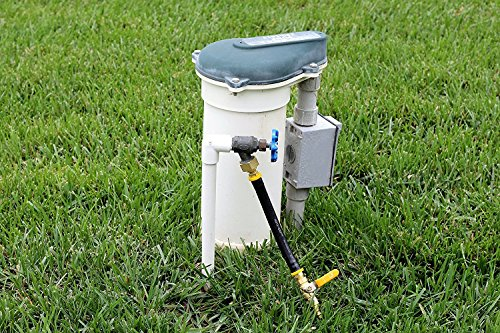 Winterize Sprinkler Systems and Outdoor Faucets: Air Compressor Quick-Connect Plug To Female Garden Hose Faucet Blow Out Adapter with Shut Off Valve (Lead-Free Brass) by Vibrant Yard Company (Image #3)