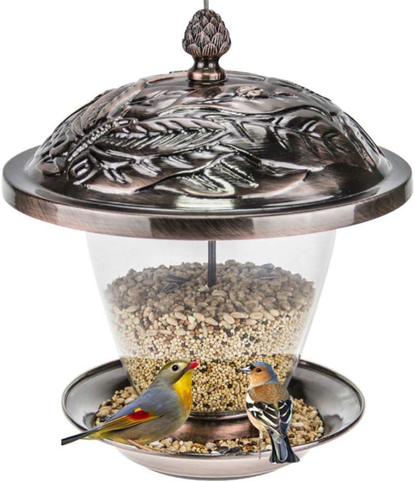 QHWJ Alimentador del pájaro decoración del jardín, estación del alimentador de Semillas comederos de Aves Salvajes Gazebo del Metal para el jardín al Aire Libre Patio Trasero