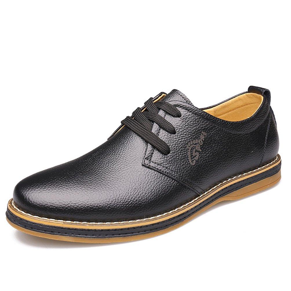 Herren Chelsea Schuhe Modisch Oxford Rutschfest Gummi Sohle Schwarz Leichte Elegant Retro Schnürhalbschuhe Schwarz Sohle 8ec1cb