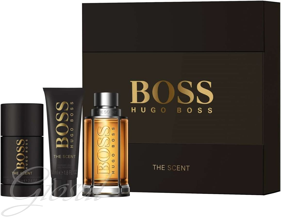 Estuche para hombre Hugo Boss The Scent Perfume EDT Shower Gel Deo Stick GIOSAL: Amazon.es: Belleza