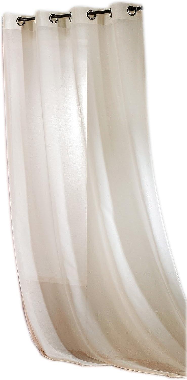 Linder 0230 //11//375FR Voilage Vend/ôme /Écru Oeillets 145 x 240 cm