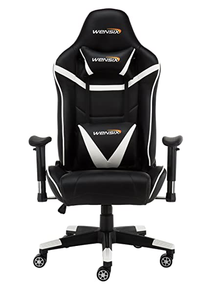 wensix ergonomic high back computer gaming chair for pc racing chairs with adjustable headrest and backrest