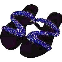 KingbeefLIU Zapatillas Mujer Moda Sandalias Antideslizantes con Incrustaciones De Diamantes De Imitación Zapatillas…