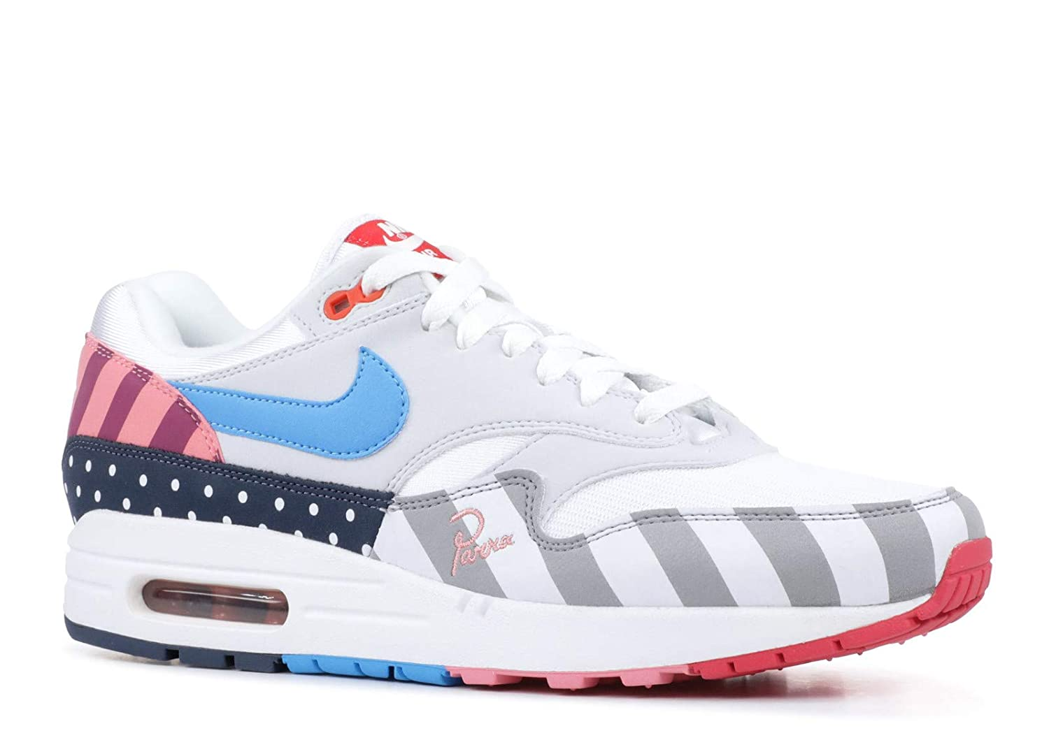 fa2f3add68 Amazon.com | Nike Air Max 1 Parra - US 7 White/Pure Platinum | Fashion  Sneakers