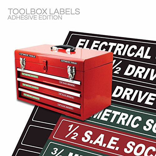 Tool Box Organizer Labels Tough Foil Adhesive Decals For
