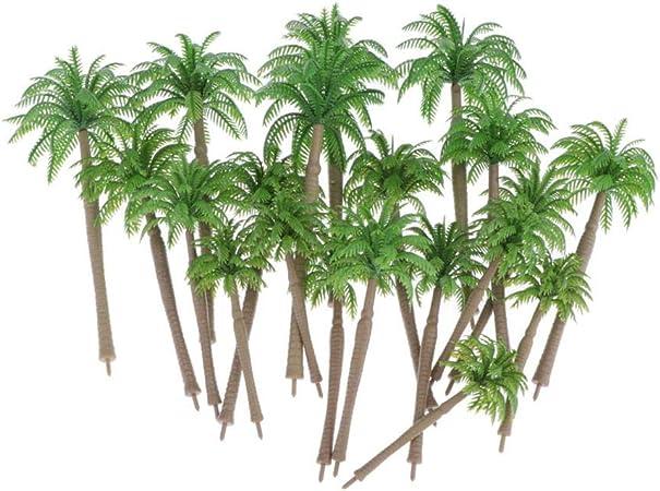 Hellery 20 pcs Molde Árbol Plástico de Bosques Paisajismo Plantas Verdes Paisaje de Árboles de Pino Verde Paisaje - 8-16cm: Amazon.es: Juguetes y juegos