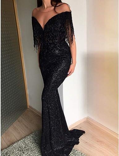TEBAISE damska sukienka z szyfonu z dekoltem w kształcie litery V, elegancka sukienka na wesele, długa sukienka wieczorowa, na imprezę, koktajlowa, dla druhny, na karnawał, karnawał, do kolan: Odzie&#