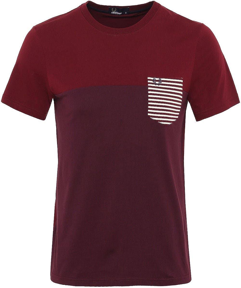 Fred Perry - Camiseta - para hombre rojo Palo De Rosa Small ...