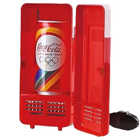 Winterworm coche Mini USB LED PC Nevera Nevera bebidas cola ...