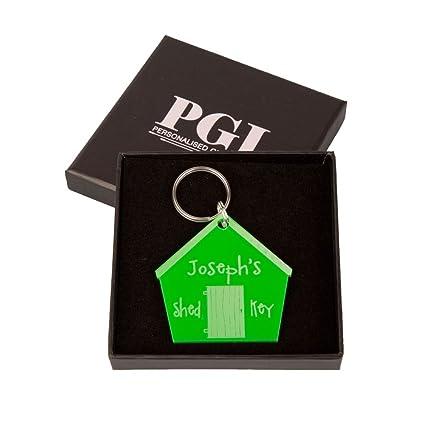 Estilo cabaña Junko personaliseitonline llavero, caseta de jardín regalos, regalo de jardinería, regalos