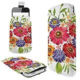 C0779 - Bouquet Of Flowers Roses Daisy Tulips Samsung Galaxy S3 Mini S4 Mini S5 Mini Galaxy core prime Galaxy J1 Fashion Slim PU Soft Pull Tab Pouch Case Sleeve Cover