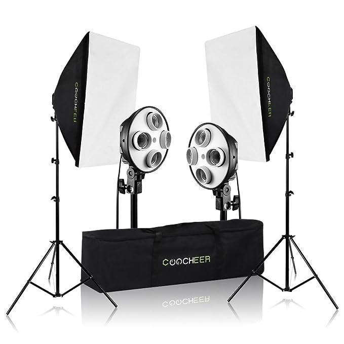 COOCHEER 2x Photography Softbox Light