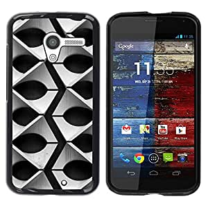 For Motorola Moto X 1 1st GEN I - Black And White Geometric Pattern /Modelo de la piel protectora de la cubierta del caso/ - Super Marley Shop -
