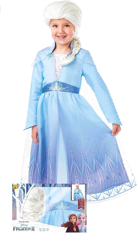 Rubies Disfraz de Elsa™ Frozen 2 con Peluca para niña S-(3/4 años ...