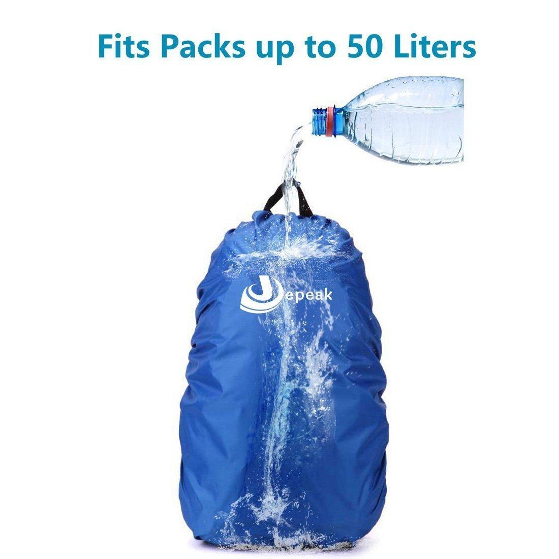 Jepeak Waterproof Backpack Rain Cover, 25L-45L Daypack Rainproof Dustproof  Protector Cover  (Elastic Adjustable ) ... 7568694092