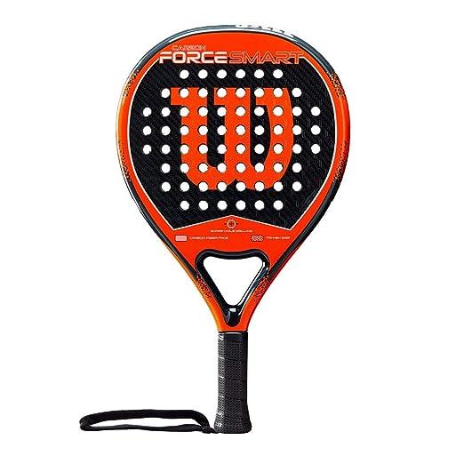 WILSON Carbon Force Smart Paddle Racket, Adultos Unisex, Black/Orange, One Size: Amazon.es: Deportes y aire libre