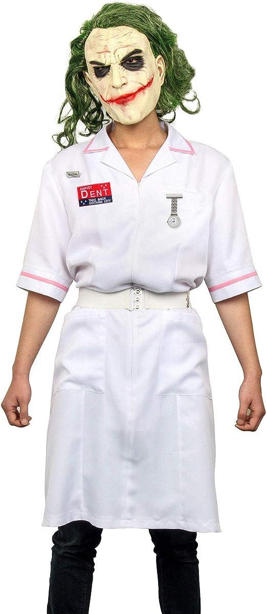 Nuwind Joker Kostum Krankenschwester Kostum Kleid Clown Mantel