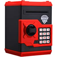 Chinatera Electronic Metal Money Bank Piggy Money Telephone Booth Banks Coin Saving Banks Cash Coin Can Safe Atm Bank (Red)