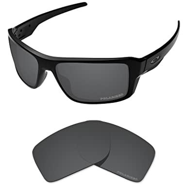 135b329cfb Tintart Performance Lenses Compatible with Oakley Double Edge Polarized  Etched-Carbon Black