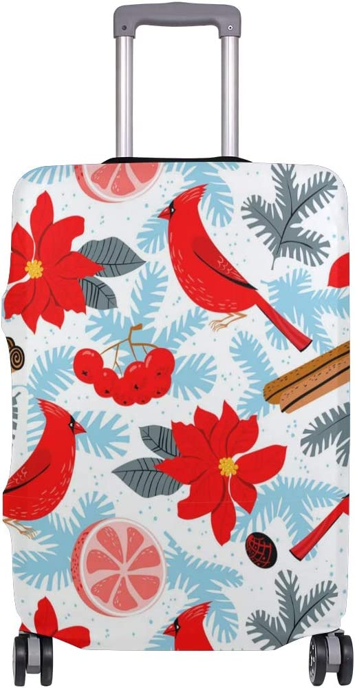 Birds Sing Christmas Songs Travel Luggage Protector Case Suitcase Protector For Man/&Woman Fits 18-32 Inch Luggage