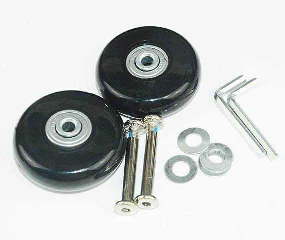 Rhinenet Set de 2 ruedas de repuesto para maleta, con ejes rodamientos reparación Maleta Ruedas Equipaje Ruedas: Amazon.es: Hogar