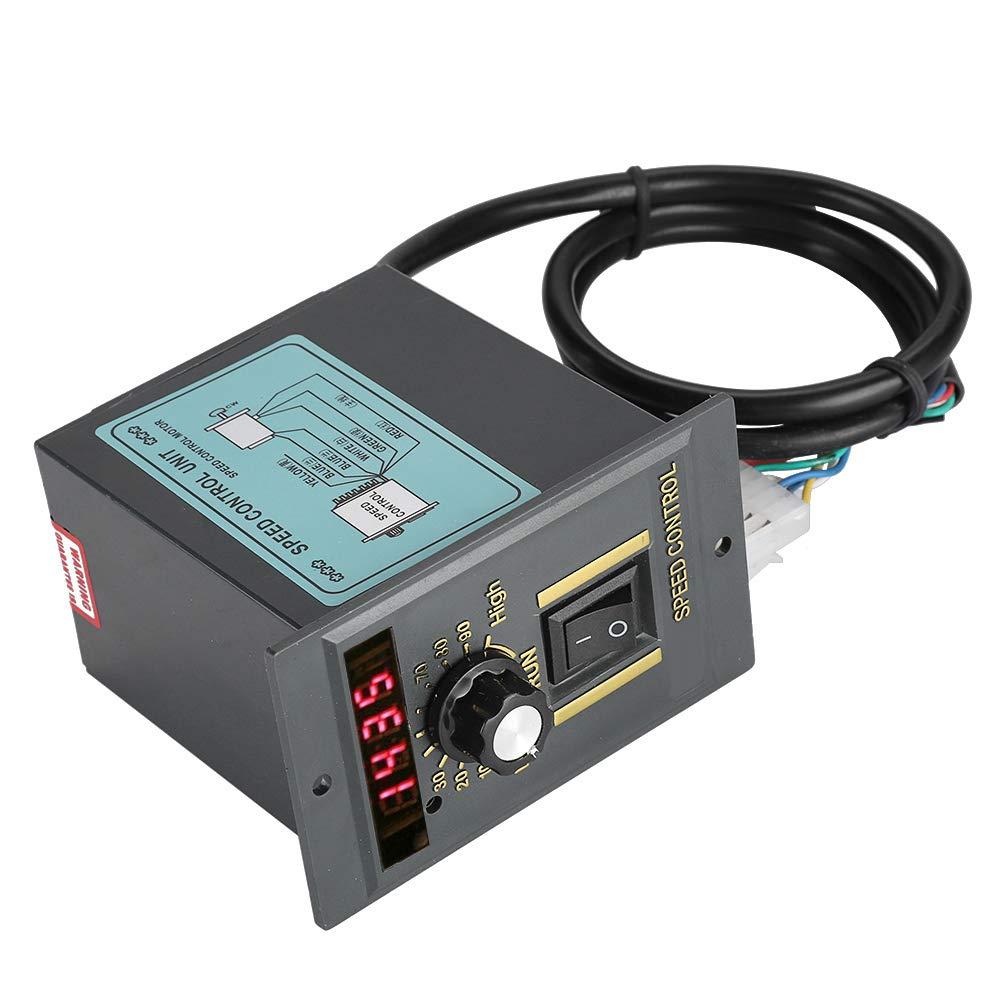 15 W Regulador de velocidad de motor digital ajustable y continuo 60 W 250 W 120 W . AC 220 V 50 Hz compatible con la rotaci/ón de CW//CCW 400 W 0-1450 U//min 250 W