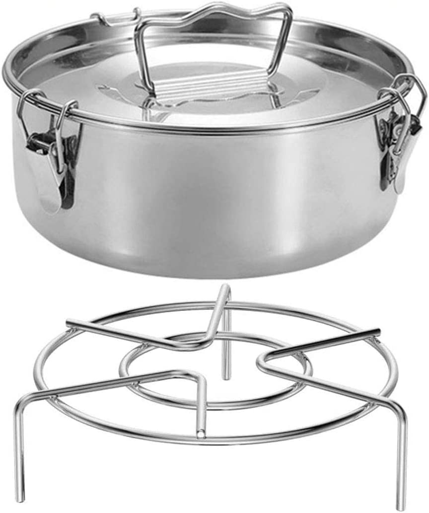 Flan Mold, Stainless Steel Flan Pan Mold with Lid and Handle for Instant Pot 6, 8 Qt with Steamer Rack (7.5 X 7.5 X 2.9)