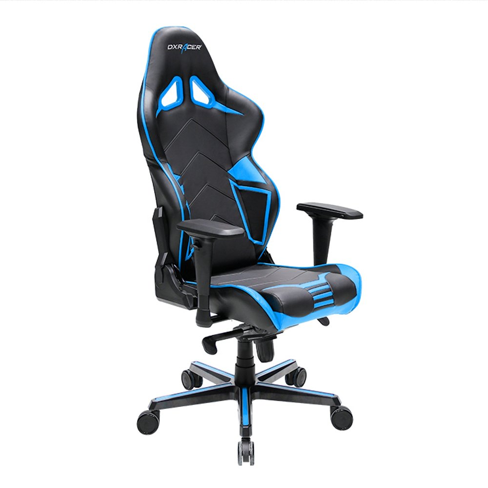DXRacer Racing Series DOH RV131 NB Office Chair Gaming Chair Carbon Look Vinyle Ergonomic Computer Chair Esports Desk Chair Executive Chair Furniture with Free Cushions Black Blue