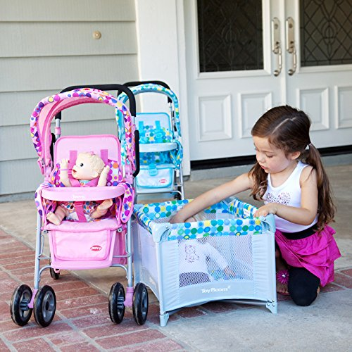 Joovy Toy Room2 Playard, Pink Dot For $29.99