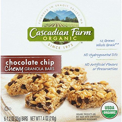 - Cascadian Farm Granola Bar - Organic - Chewy - Chocolate Chip - 7.4 oz - case of 12