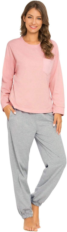 GOSO Conjunto de Pijamas de Mujer-Pijamas de Mujer Pjs Top Ropa de Dormir Lady Jogging Style Nightwear Soft Lounge Sets