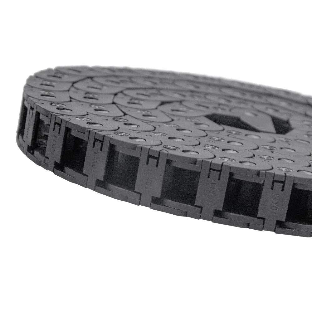 Redrex 10mm x 11mm Outside Open Type Cadena de Arrastre Pl/ástico Towline Transportador de Cable Portador de Alambre con conectores finales para m/áquinas CNC de cableado de impresoras 3D