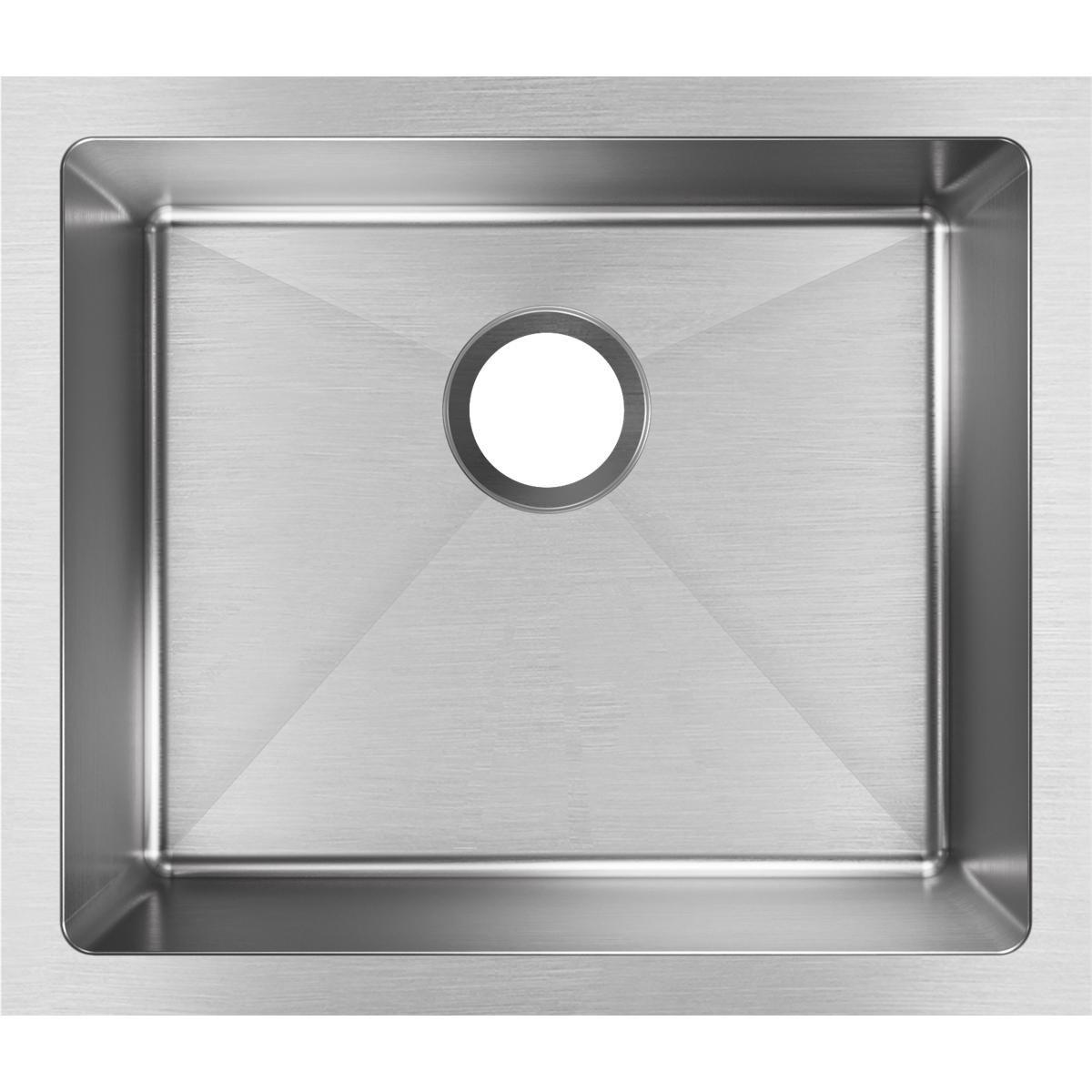 Elkay EFRU191610T Crosstown Single Bowl Undermount Stainless Steel Sink