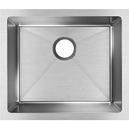 Elkay Crosstown EFRU191610T Single Bowl Undermount Stainless Steel Kitchen  Sink