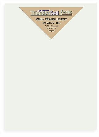 100 blanco brillante translúcido 17 # hojas finas - 5.5 \