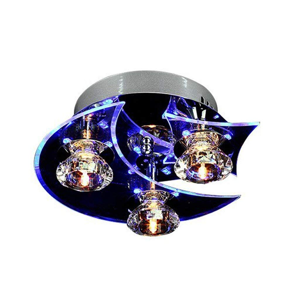 LEDクリスタルアクリルシーリングライトG4ブラブシャンデリア照明器具子供の寝室のリビングルーム - 省エネライト - モダンなLEDシーリングライトクリスタル   B07T8N2MBZ
