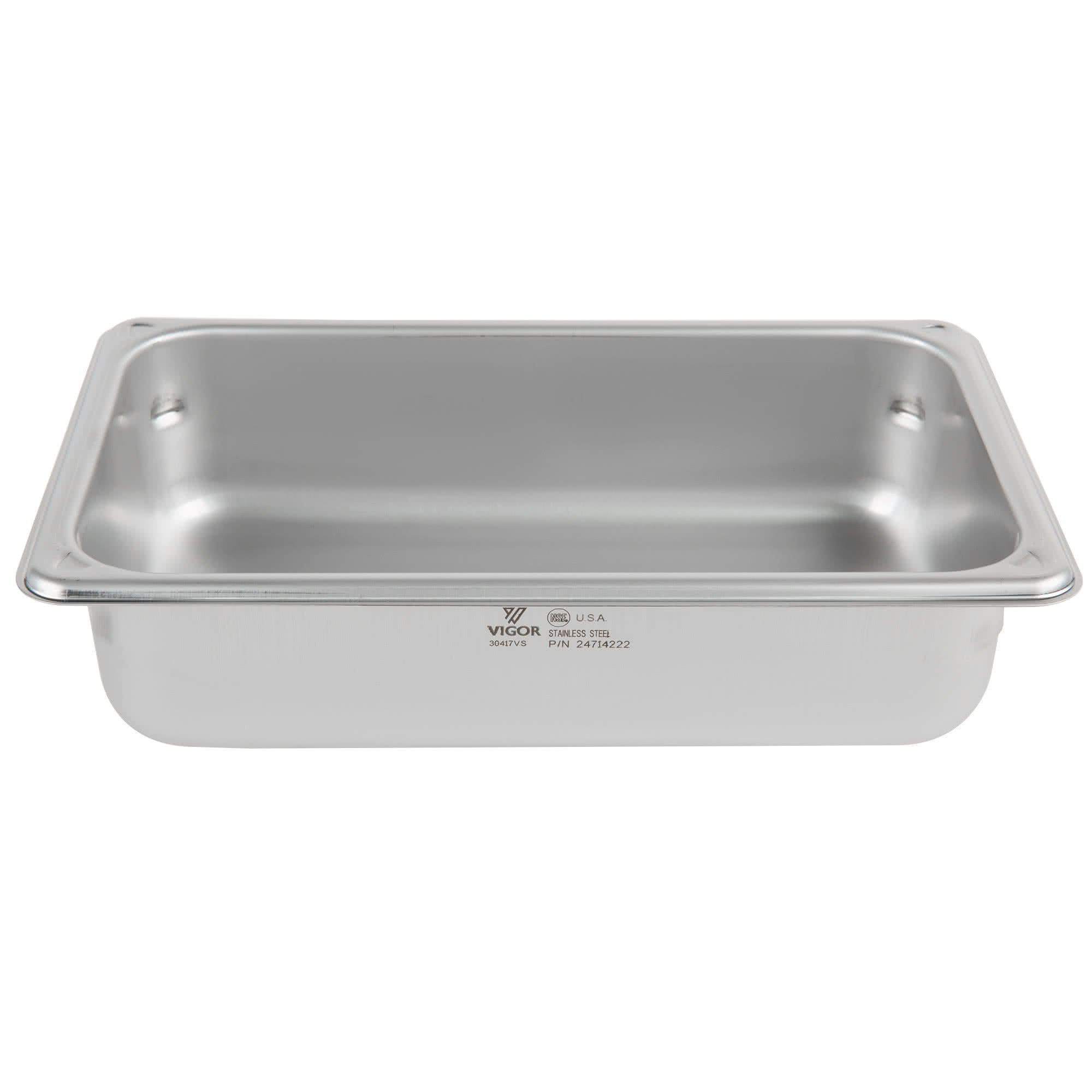 TableTop King 1/4 Size Anti-Jam Stainless Steel Steam Table / Hotel Pan - 2 1/2'' Deep