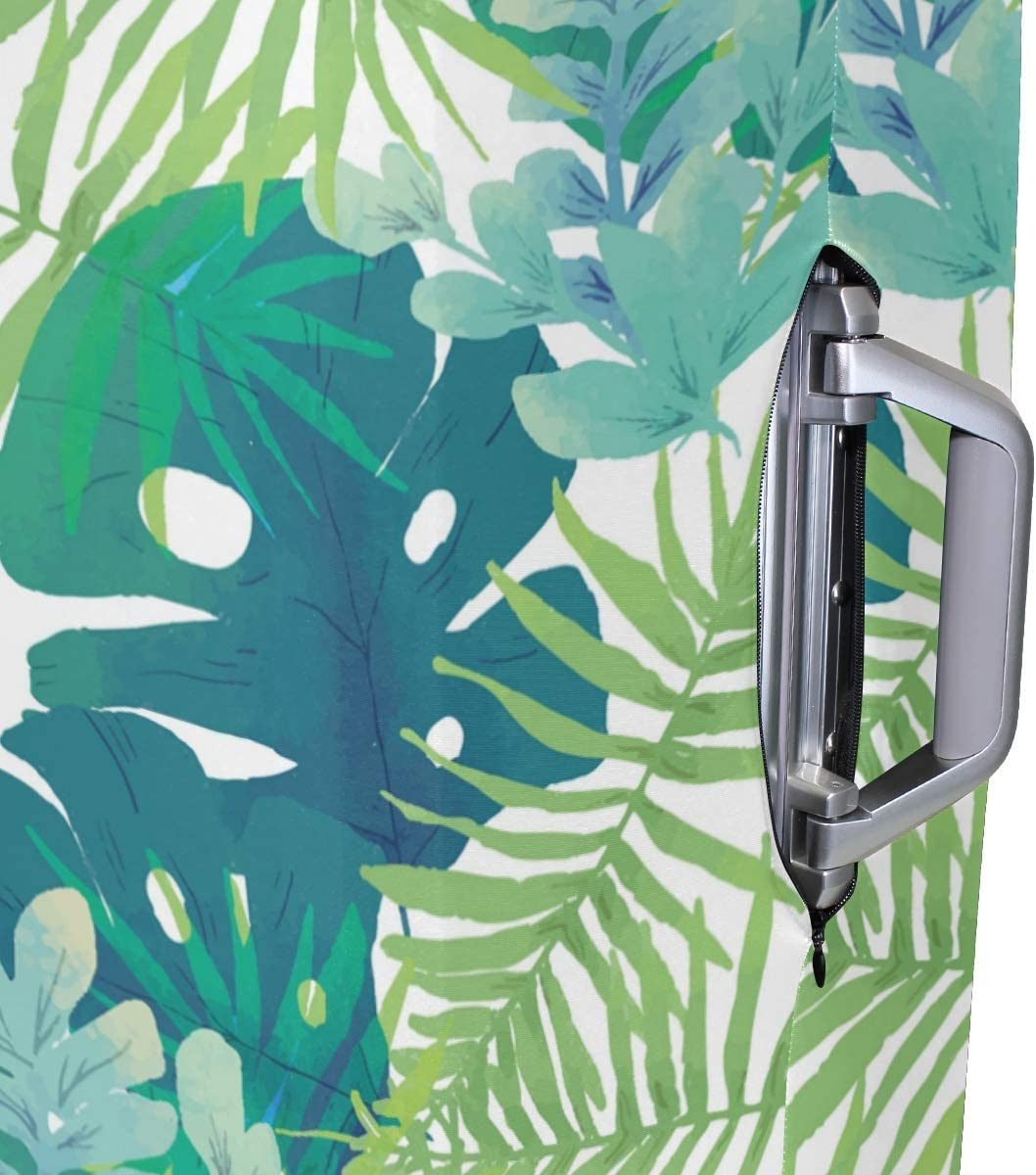 Baggage Covers Tropical Palm Pattern Green Plants Washable Protective Case