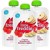 Little Freddie Fragrant Strawberries, Bananas & Apples, 100 g