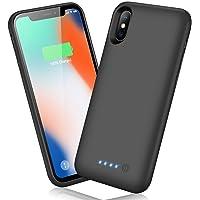 Ekrist Funda Batería para iPhone X/XS/10, 6500mAh Funda Cargador Portatil Ultra Capacidad Carcasa Batería Recargable…