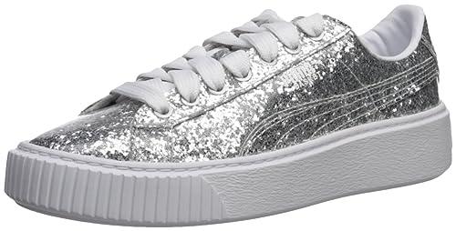 edbec7e1cb1b5a Puma Women s Basket Platform Glitter Wn  Amazon.co.uk  Shoes   Bags