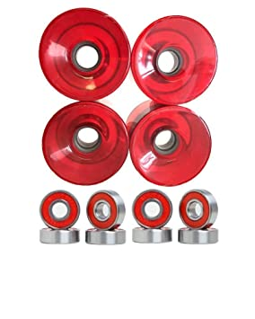 Turbo Power 76 mm Longboard ruedas con rodamientos Set
