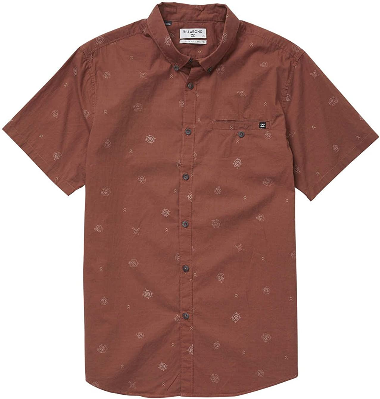 BILLABONG Sunday Mini SS Camisa, Hombre
