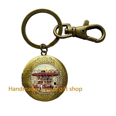 Amazon.com: Merry Go Round Carrusel de joyería medallón ...