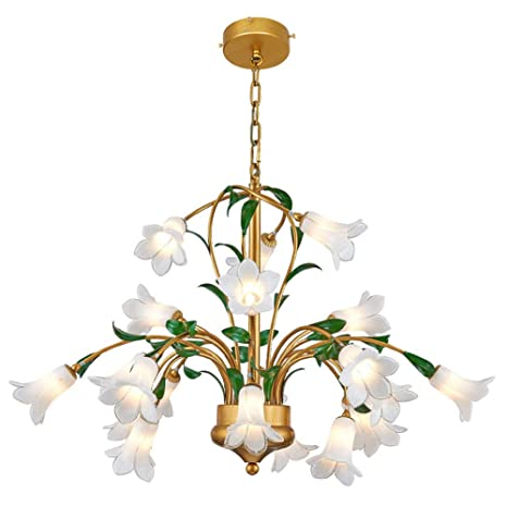 Antigua araña LED Lámpara colgante clásico estilo florentino ...