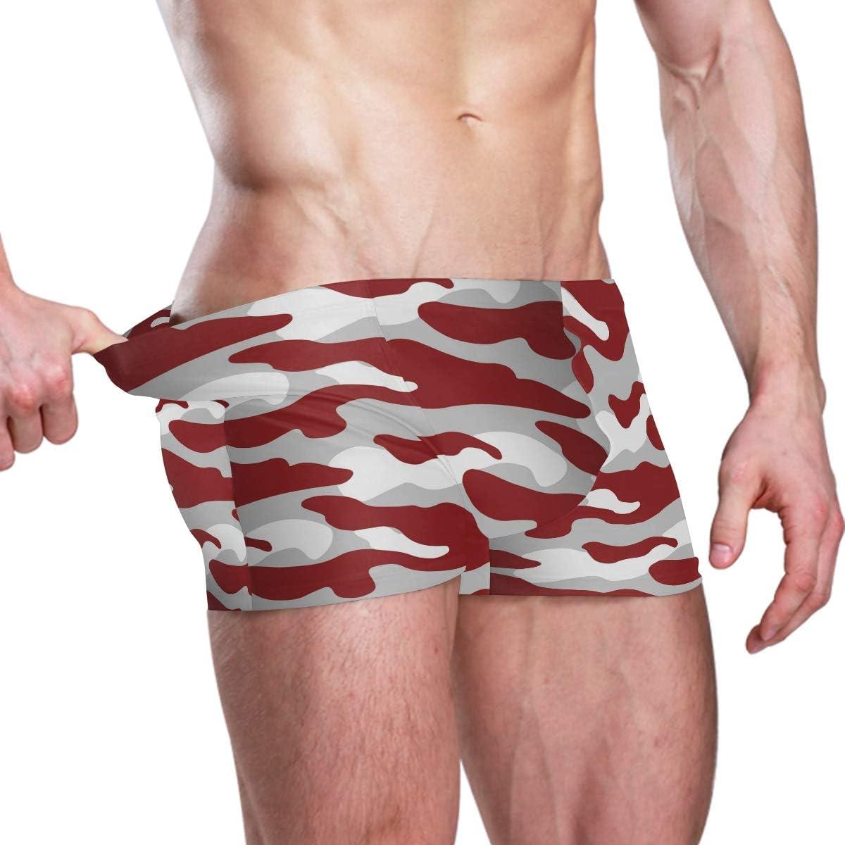 Alidashu Alabama Camouflage Mens Jammer Swimsuit Solid Square Leg Swimwear Surf