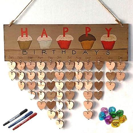 Amazon.com: Familia cumpleaños – Tabla Sign – Placa de ...