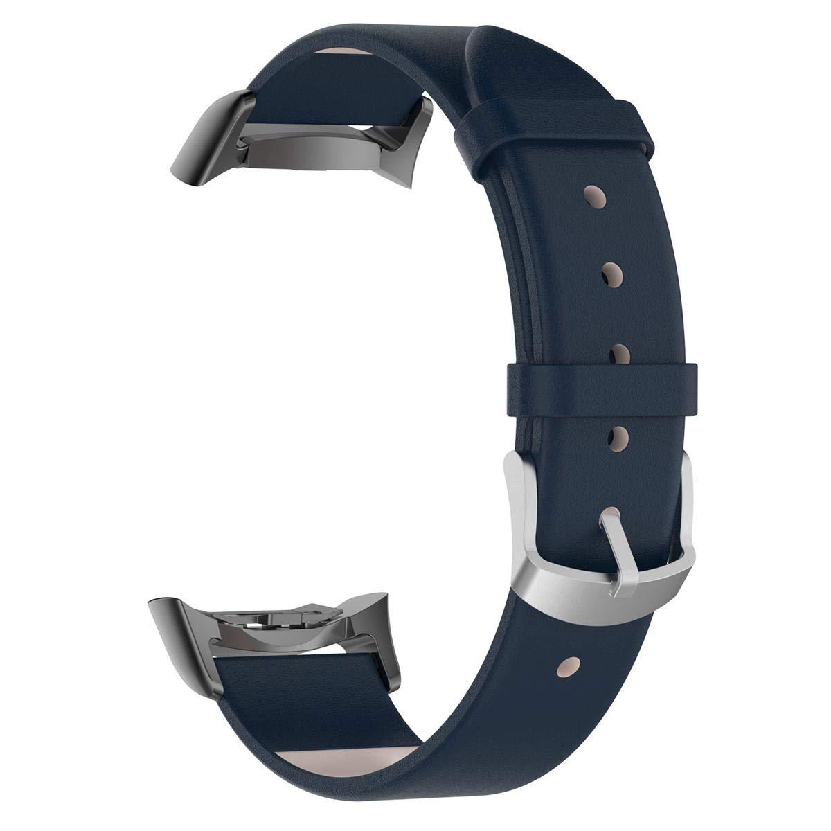 KOBWA Bracelet de Montre Samsung Fit Gear 2 Fit Pro R360 R365 Bracelet de Montre en Cuir de Remplacement Sport Strap Samsung Fit Gear 2 Fit Pro R360 R365
