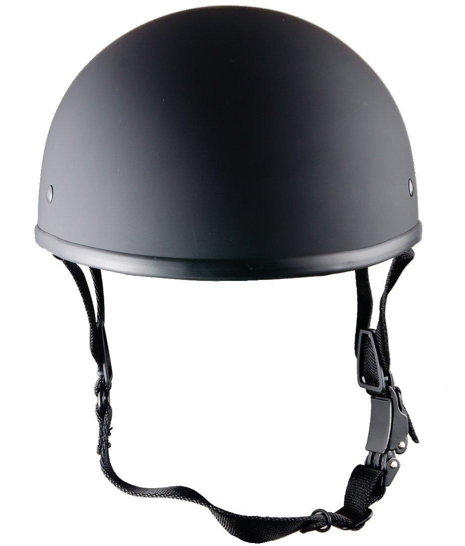 Bikerhelmets.com - World's SmallestMotorcycle Helmet -DOT ApprovedUltra Low Profile Beanie - Flat Black No Peak - X-Large by Bikerhelmets.com (Image #4)
