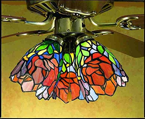 5 Inch W Iris Fan Light Shade Ceiling Fixture ()